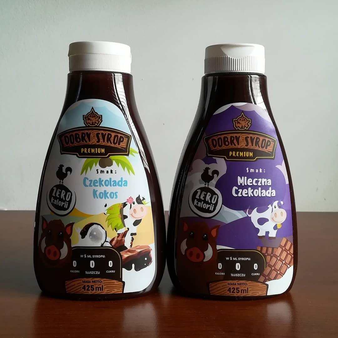 WK Nutrition Dobry Syrop – czekolada kokos i mleczna czekolada!