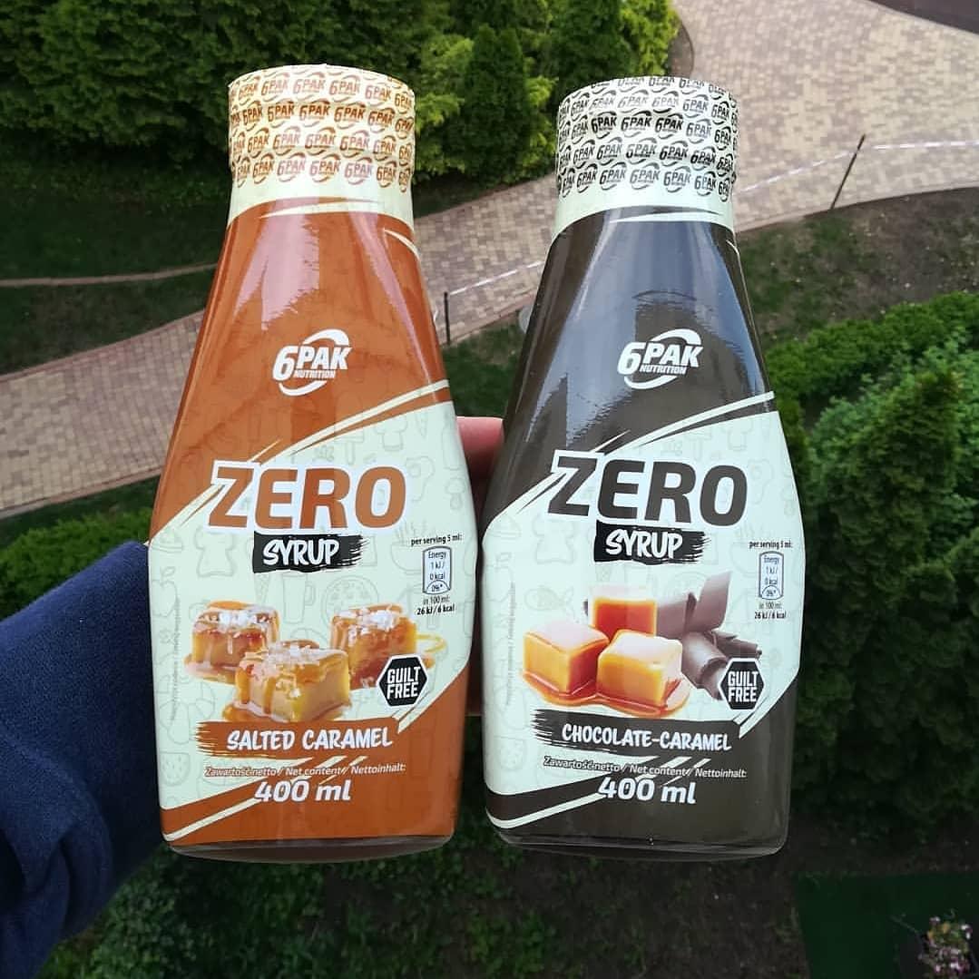 6PAK Nutrition Zero Syrup – salted caramel i chocolate caramel