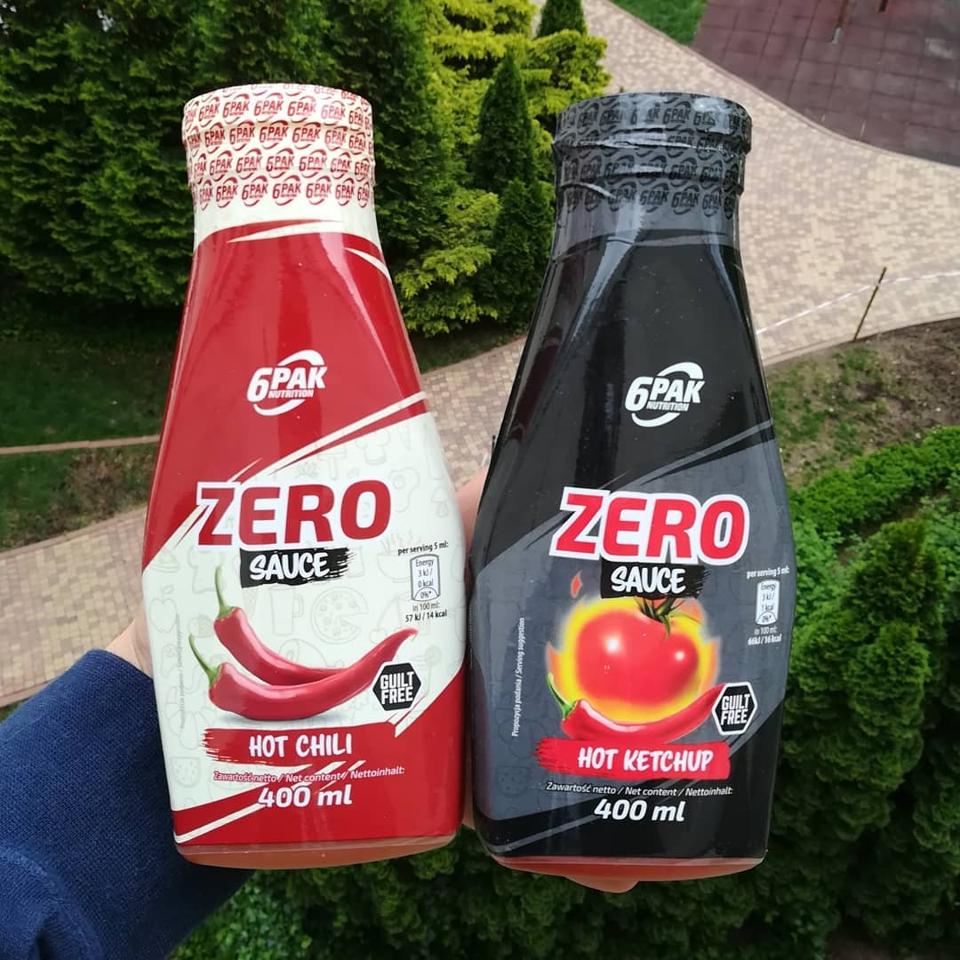 6PAK Nutrition Sauce Zero – hot chili, hot ketchup