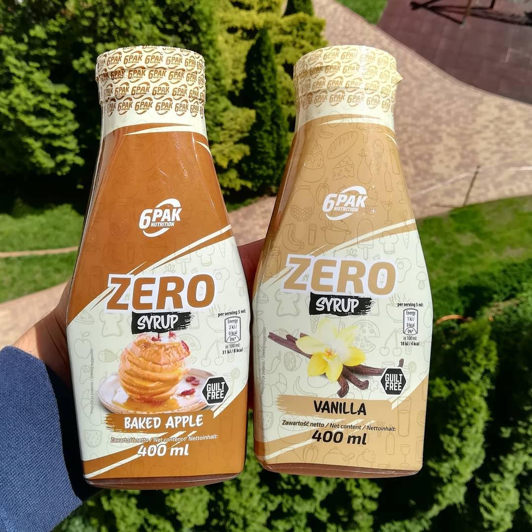 6PAK Nutrition Zero Syrup – smak szarlotki i wanilii