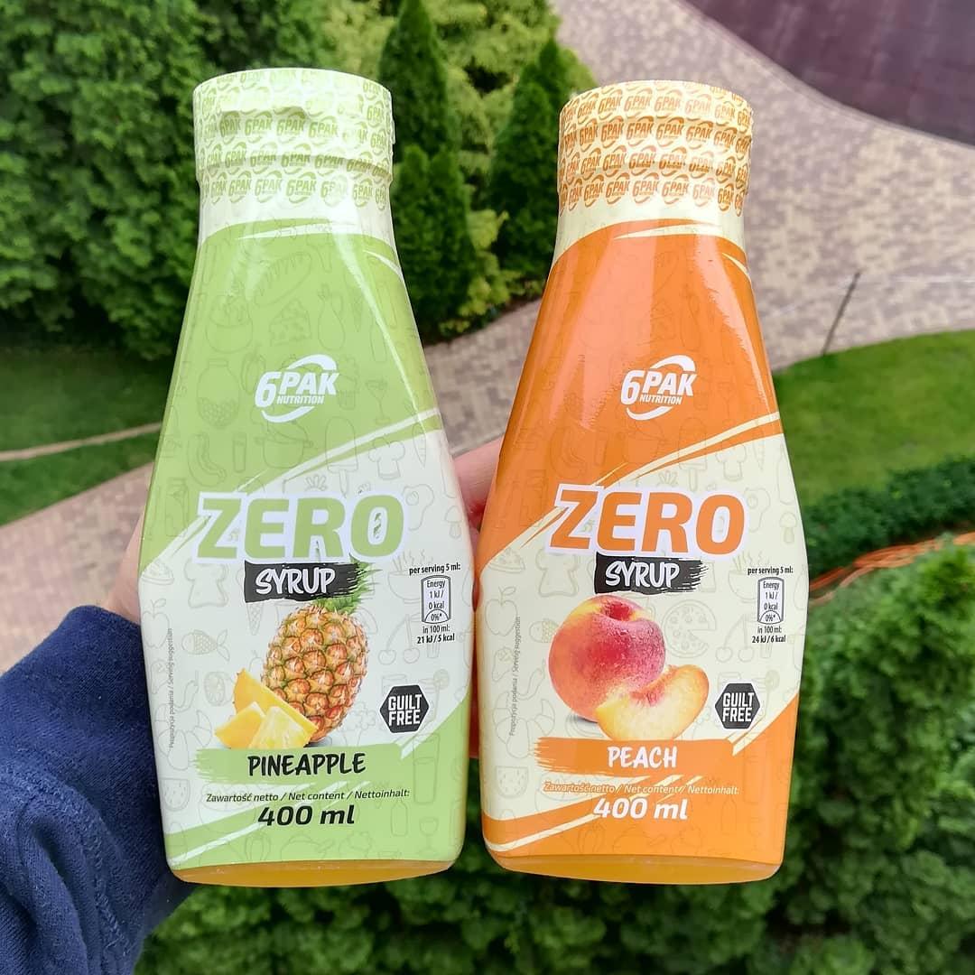6PAK Nutrition Syrup Zero – pineapple i peach