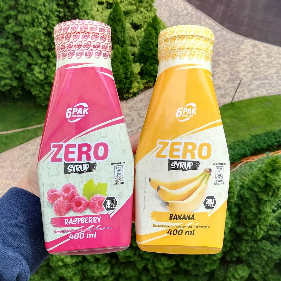 6PAK Nutrition Zero Syrup – raspberry i banana