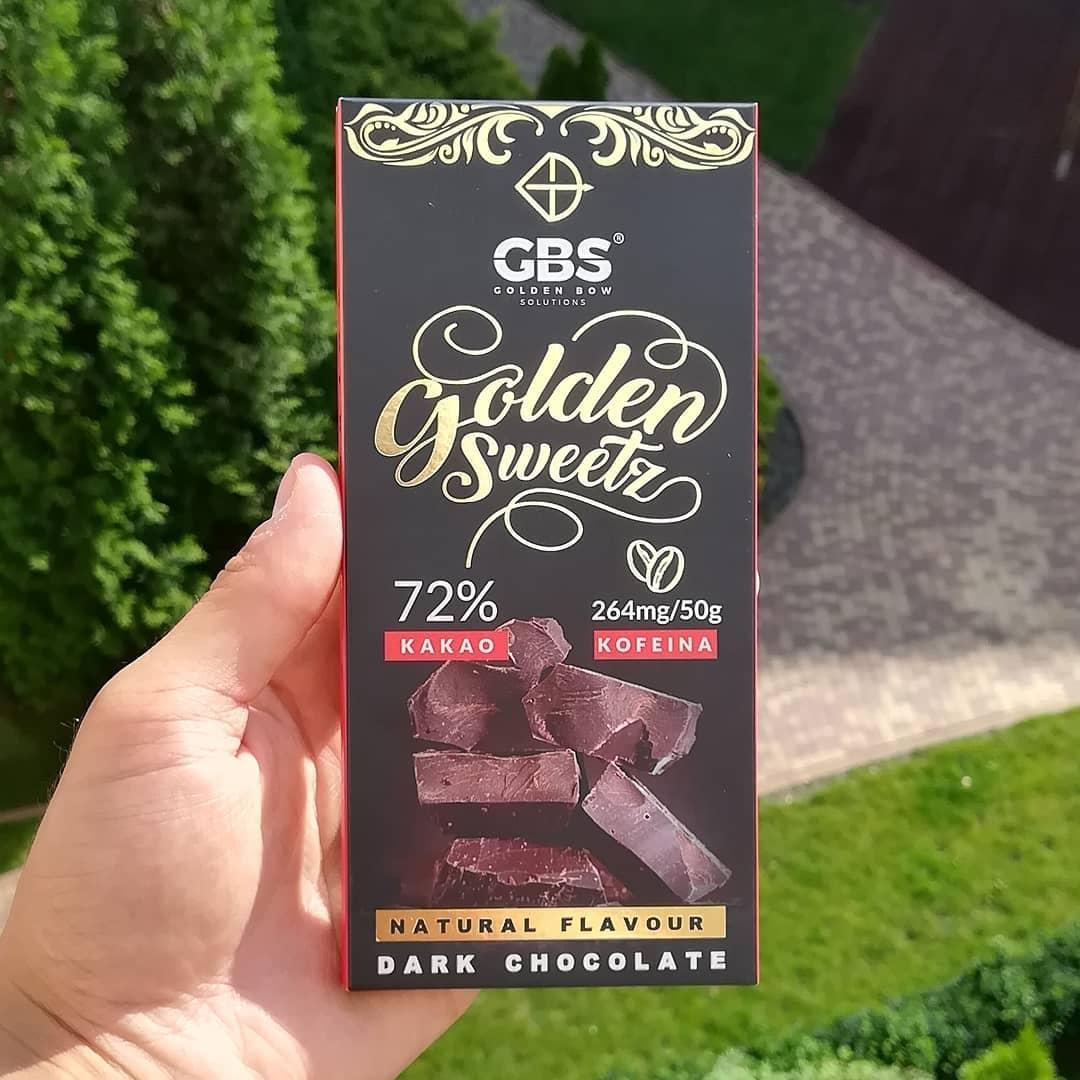 Golden Bow Solutions Dark Chocolate – czekolada z kofeiną!