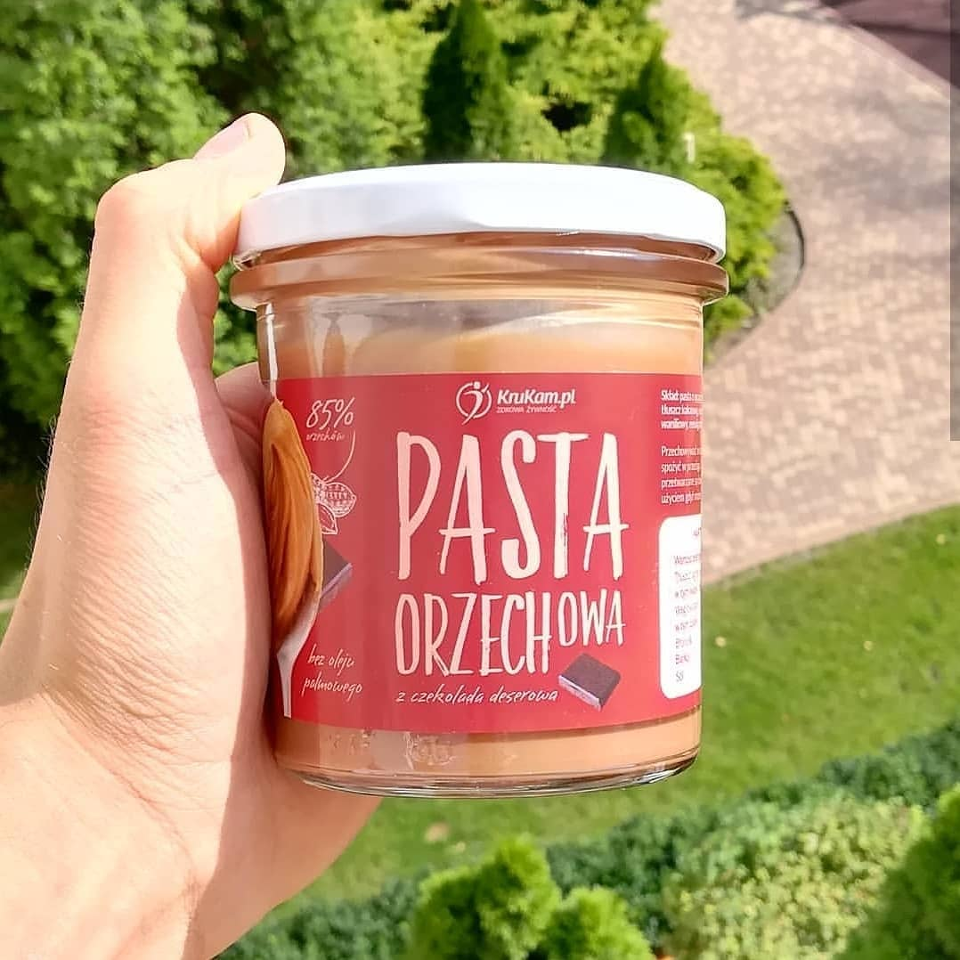 Krukam Pasta Orzechowa z Czekoladą Deserową – wystarczająco słodka?