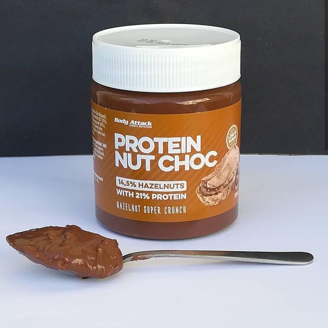 Body Attack Protein Nut Choc Hazelnut Super Crunch – jak fit nutella?