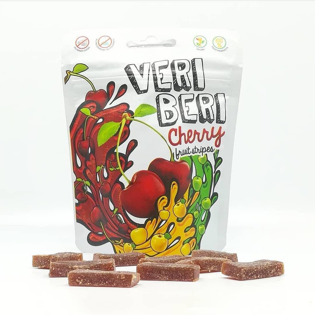 Veri Beri Cherry Fruit Stripes – wiśniowe żelki bez cukru!