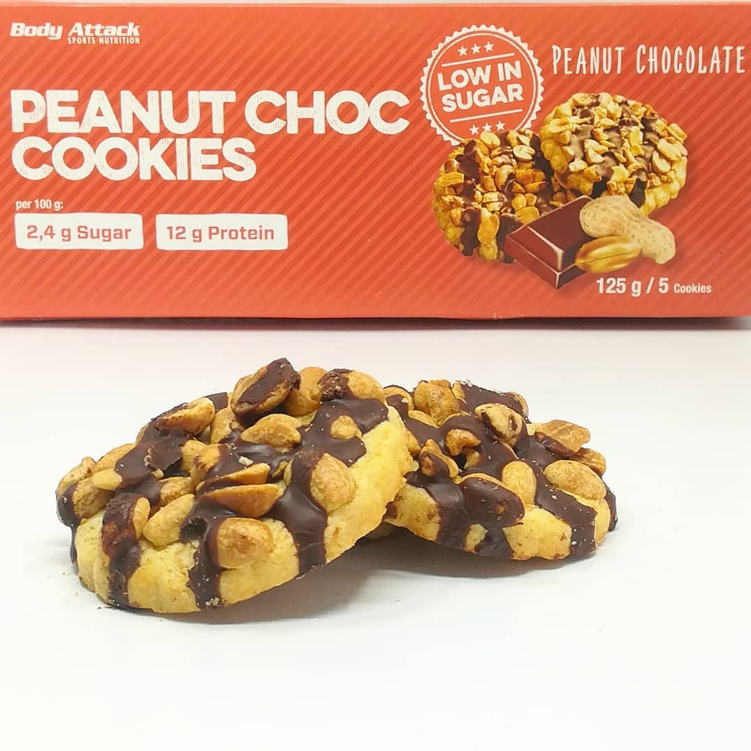 Body Attack Peanut Choc Cookies – bez cukru!