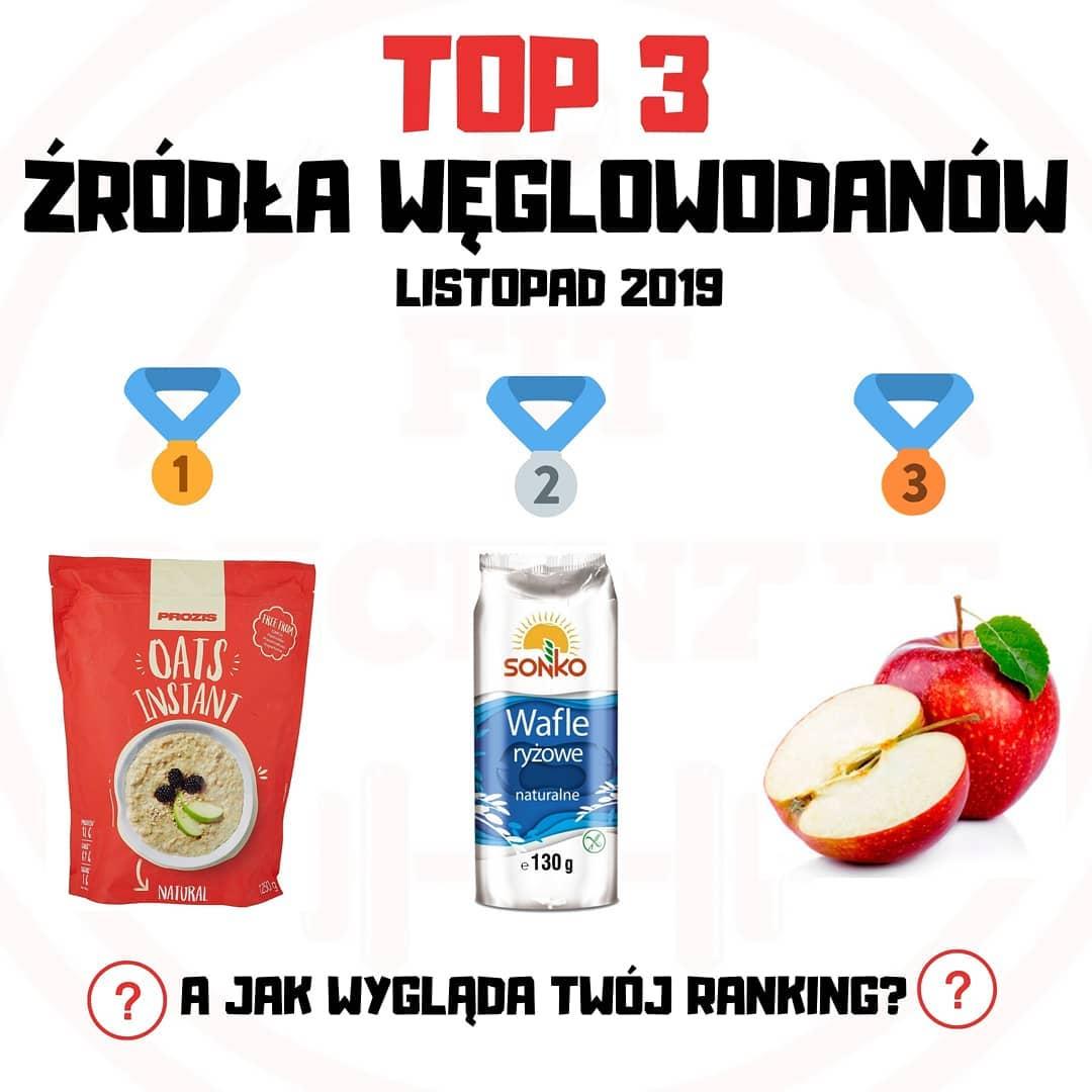 TOP3 ŹRÓDŁA WĘGLOWODANÓW