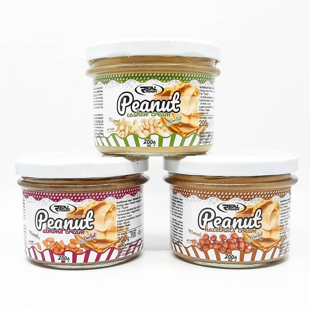 Real Pharm Peanut Creams – testuję 3 masła orzechowe!