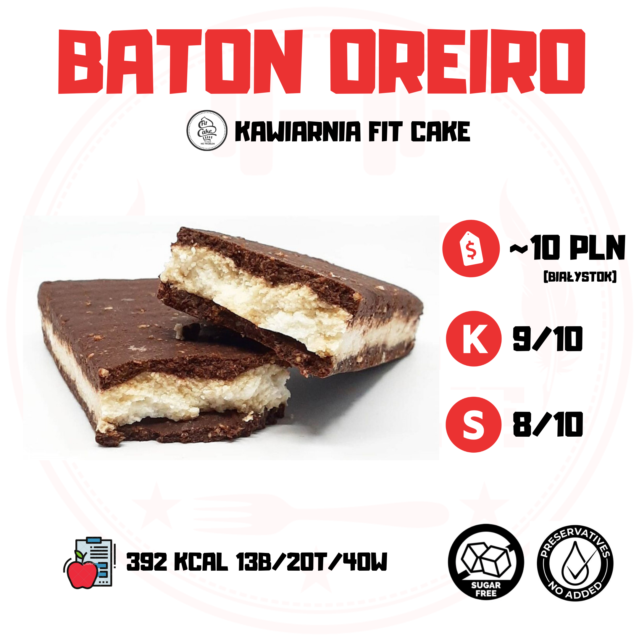 Fit Cake Baton Oreiro – lepszy od ciastek?