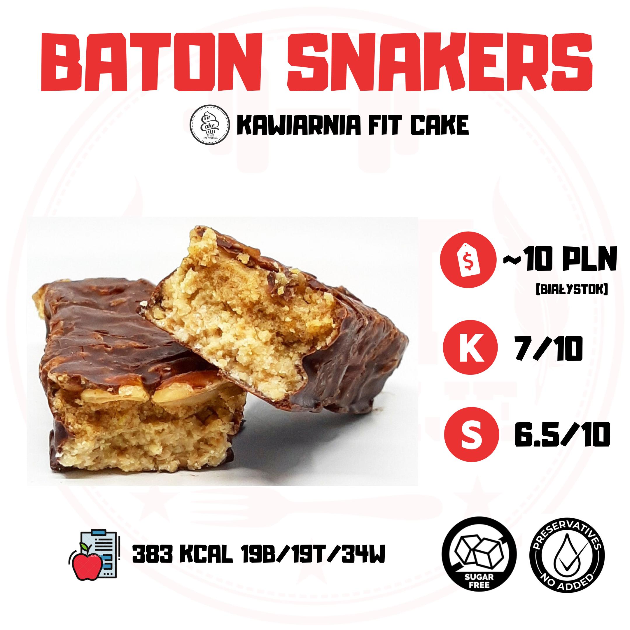 Fit Cake Baton Snakers – konkurencja dla Snickersa