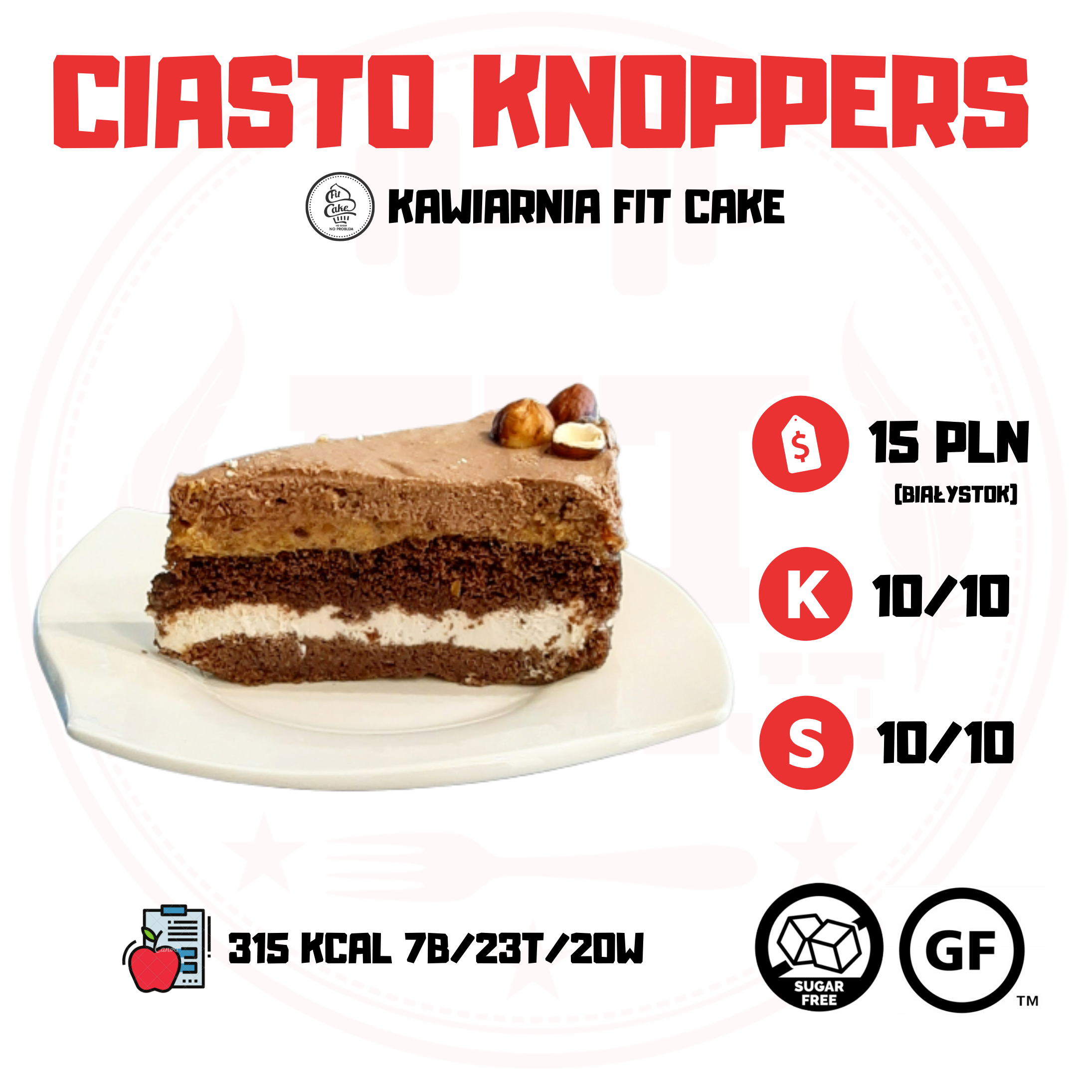 FIT CAKE CIASTO KNOPPERS