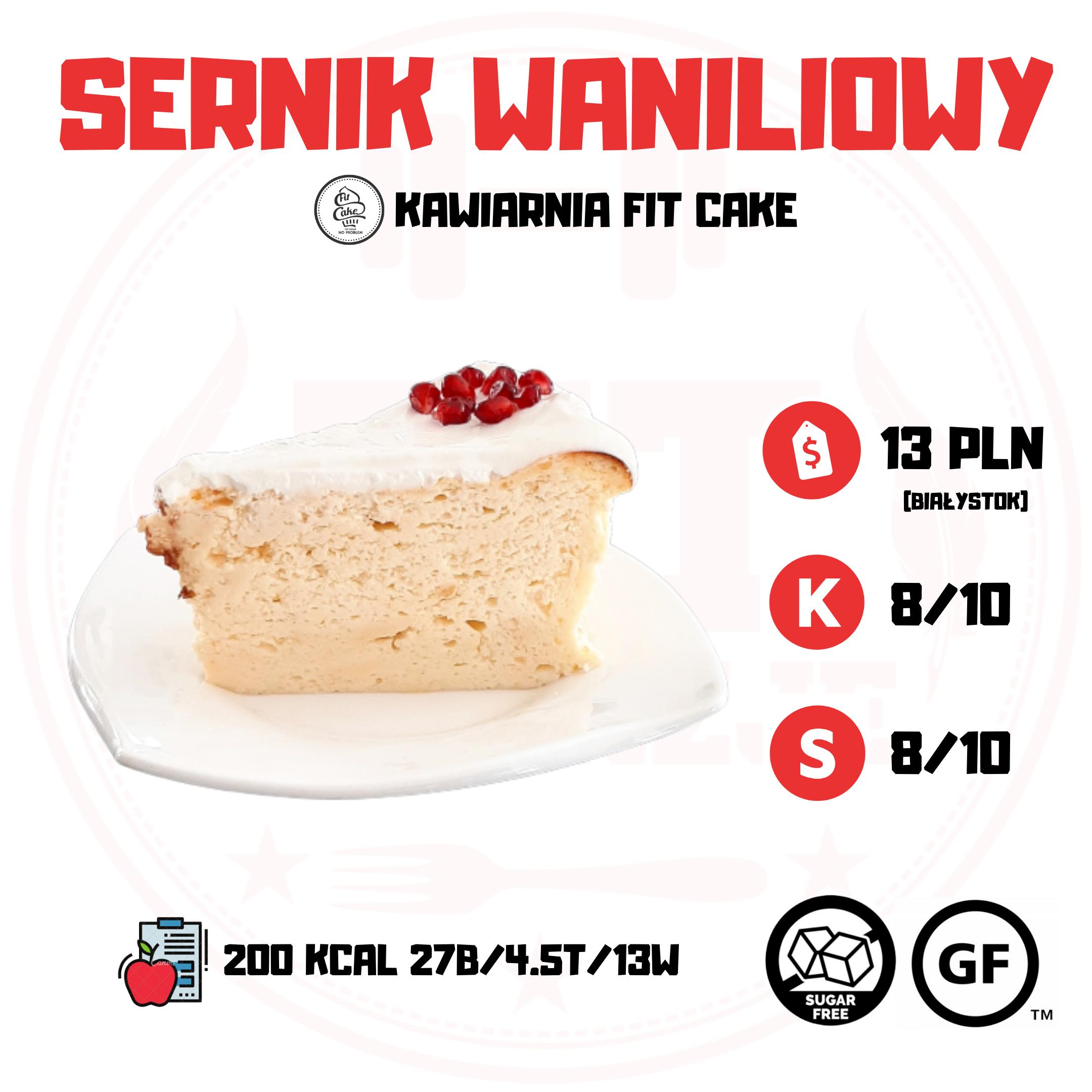 Fit Cake Sernik Waniliowy – tylko 4.5g tłuszczu!