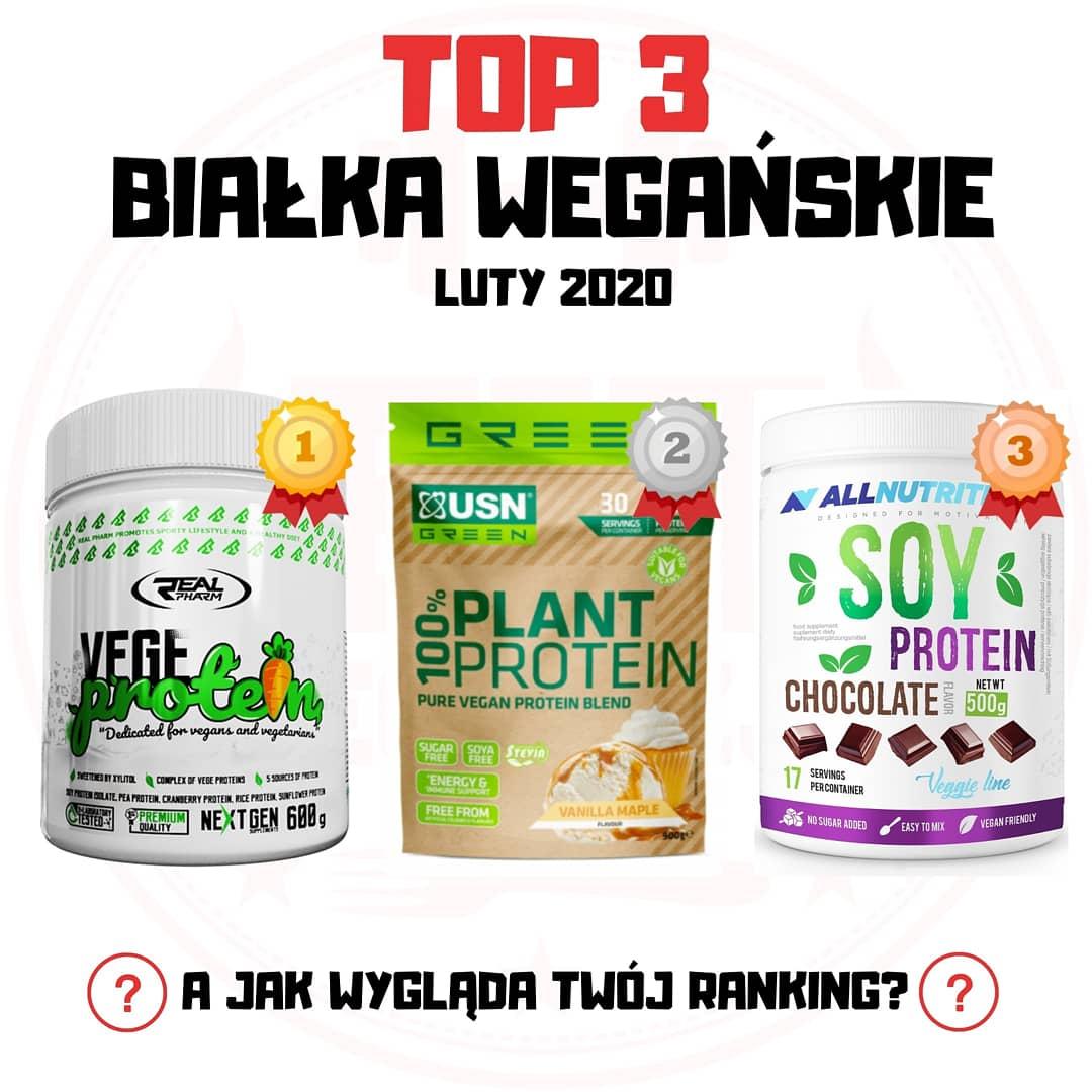 TOP3 Białka Wegańskie – luty 2020