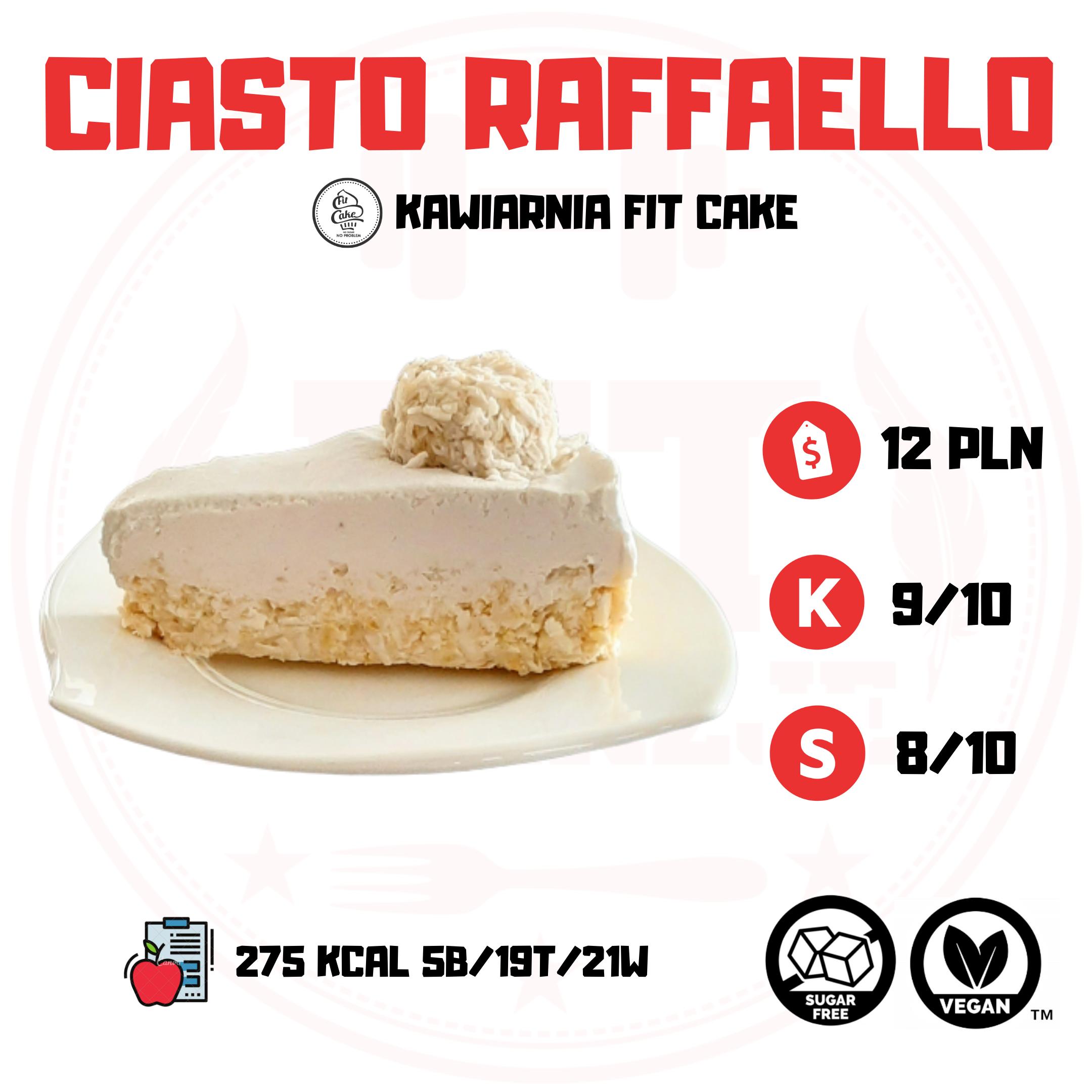 FIT CAKE CIASTO RAFFAELLO