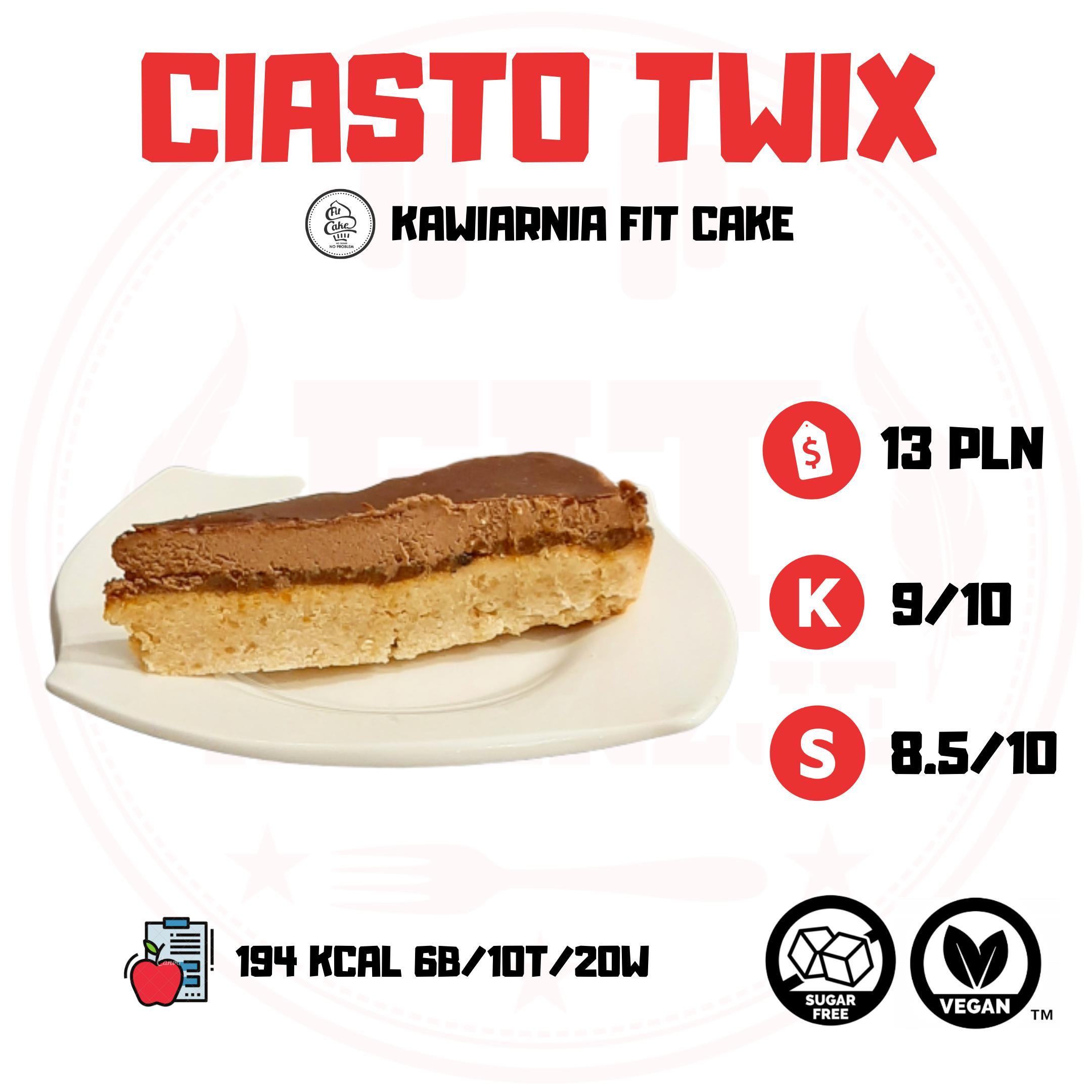 Fit Cake Twix – czy ciasto przypomina batona?