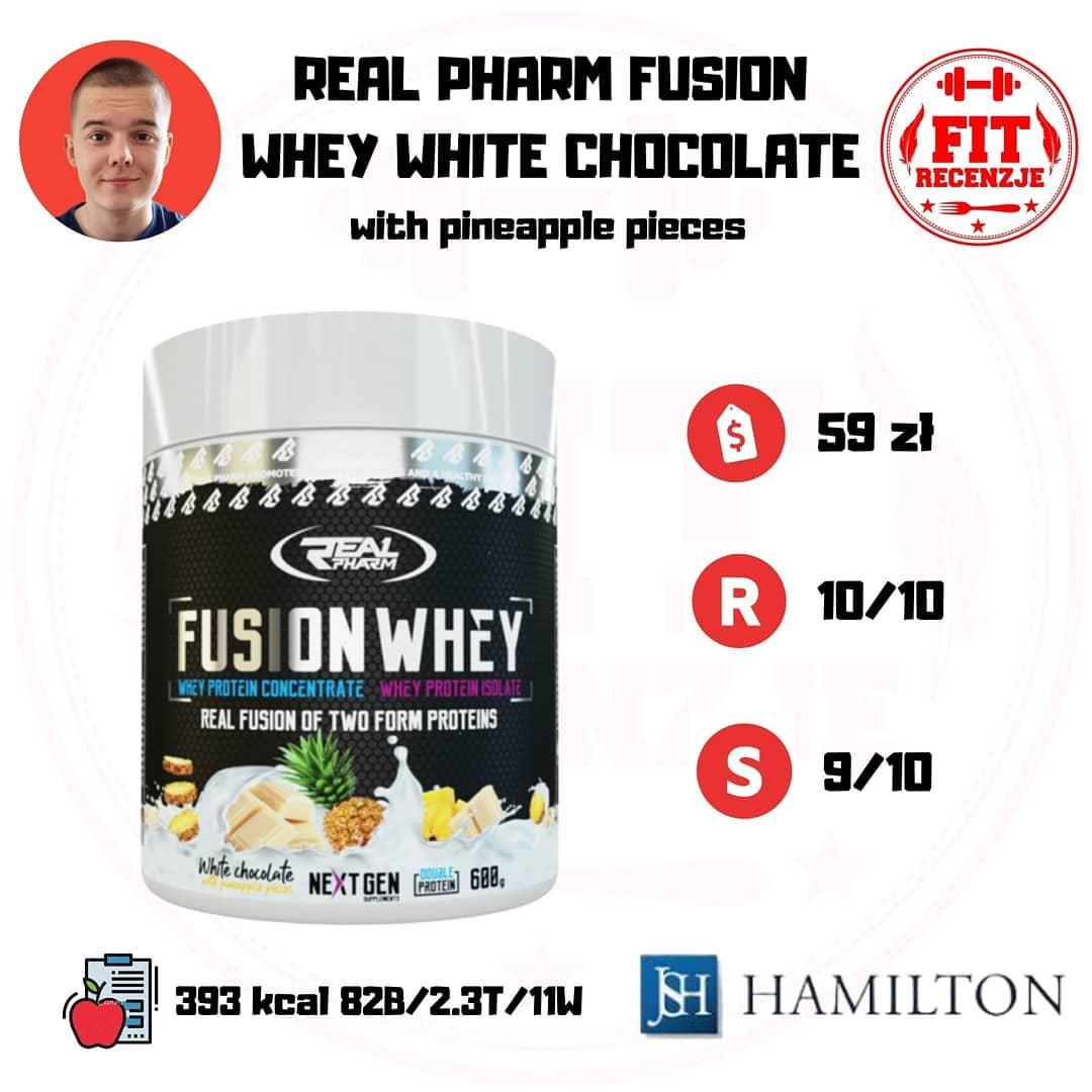 Real Pharm Fusion Whey – białko z kawałkami owoców