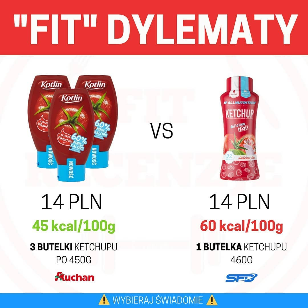 """Fit"" dylematy – ketchup Kotlin vs All Nutrition"