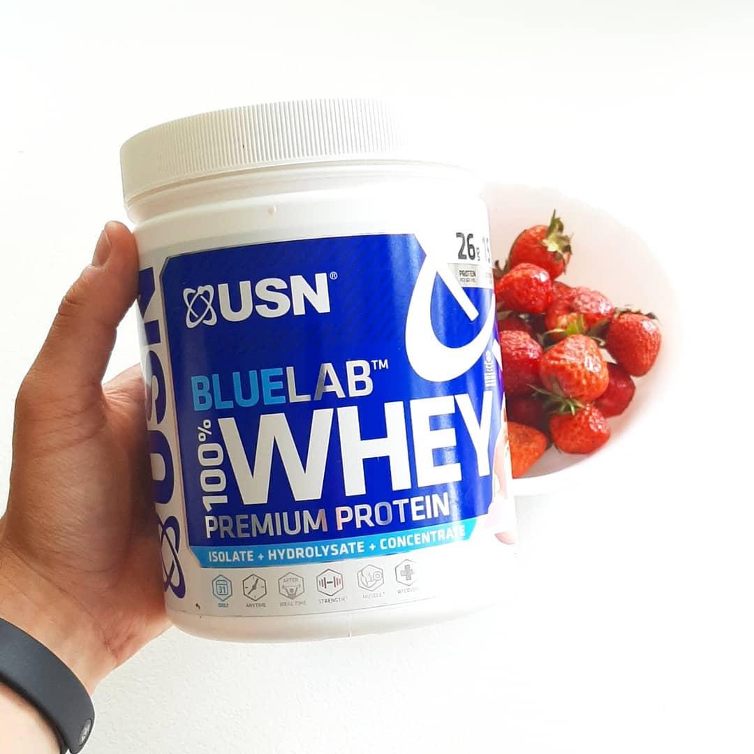 USN Blue Lab Strawberry – mieszanka 3 białek!