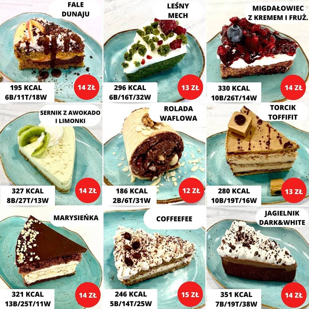 Wartości odżywcze i skład deserów w Fit Cake cz.5