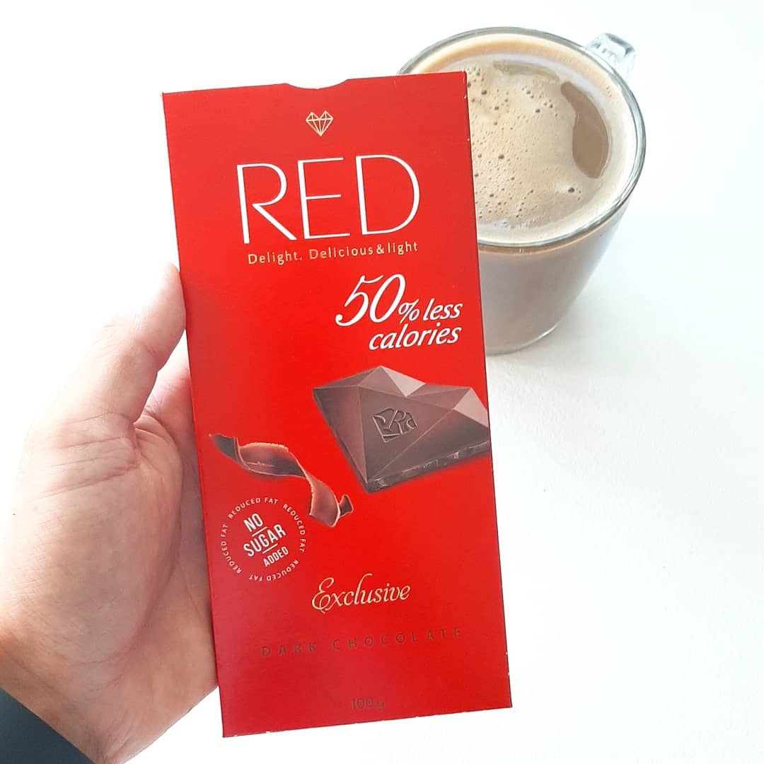 red dark chocolate 50% less calories fit recenzje