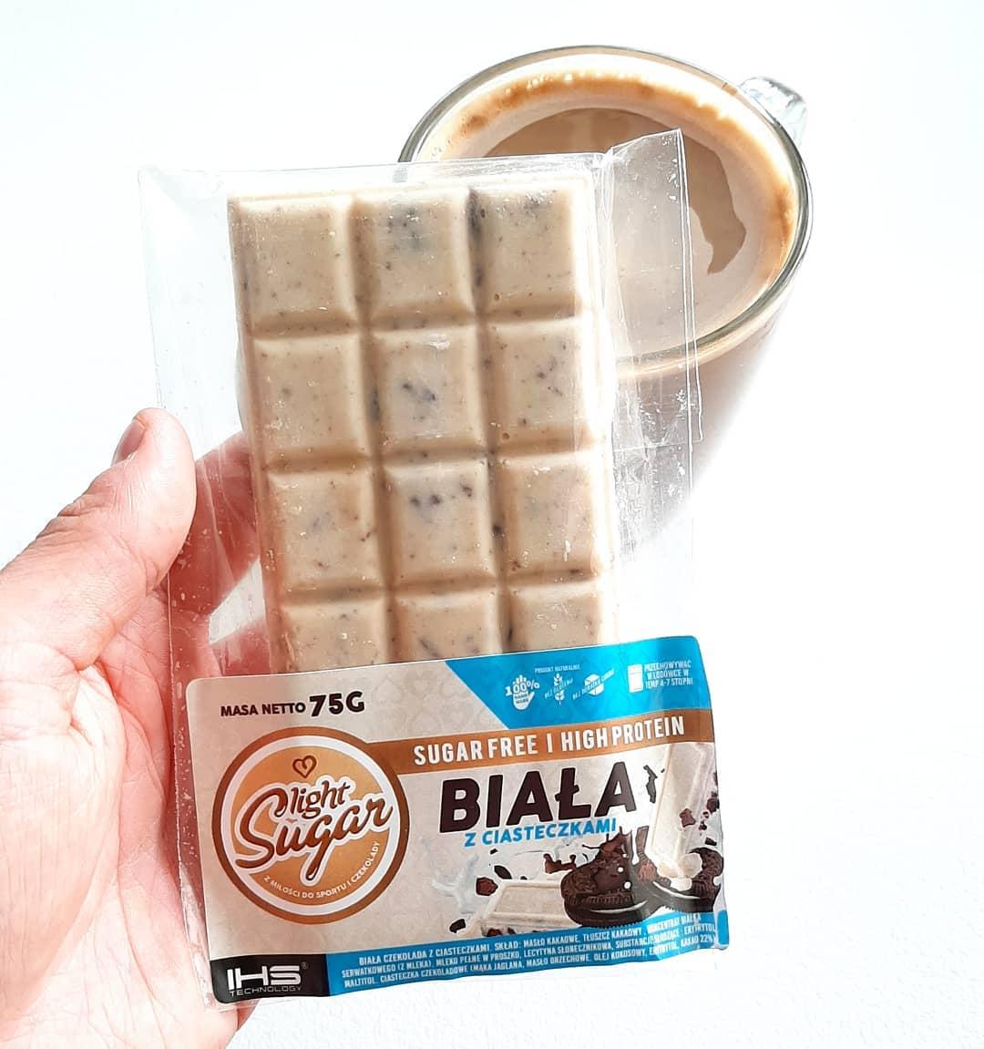 Light Sugar Biała z ciasteczkami – fit czekolada!