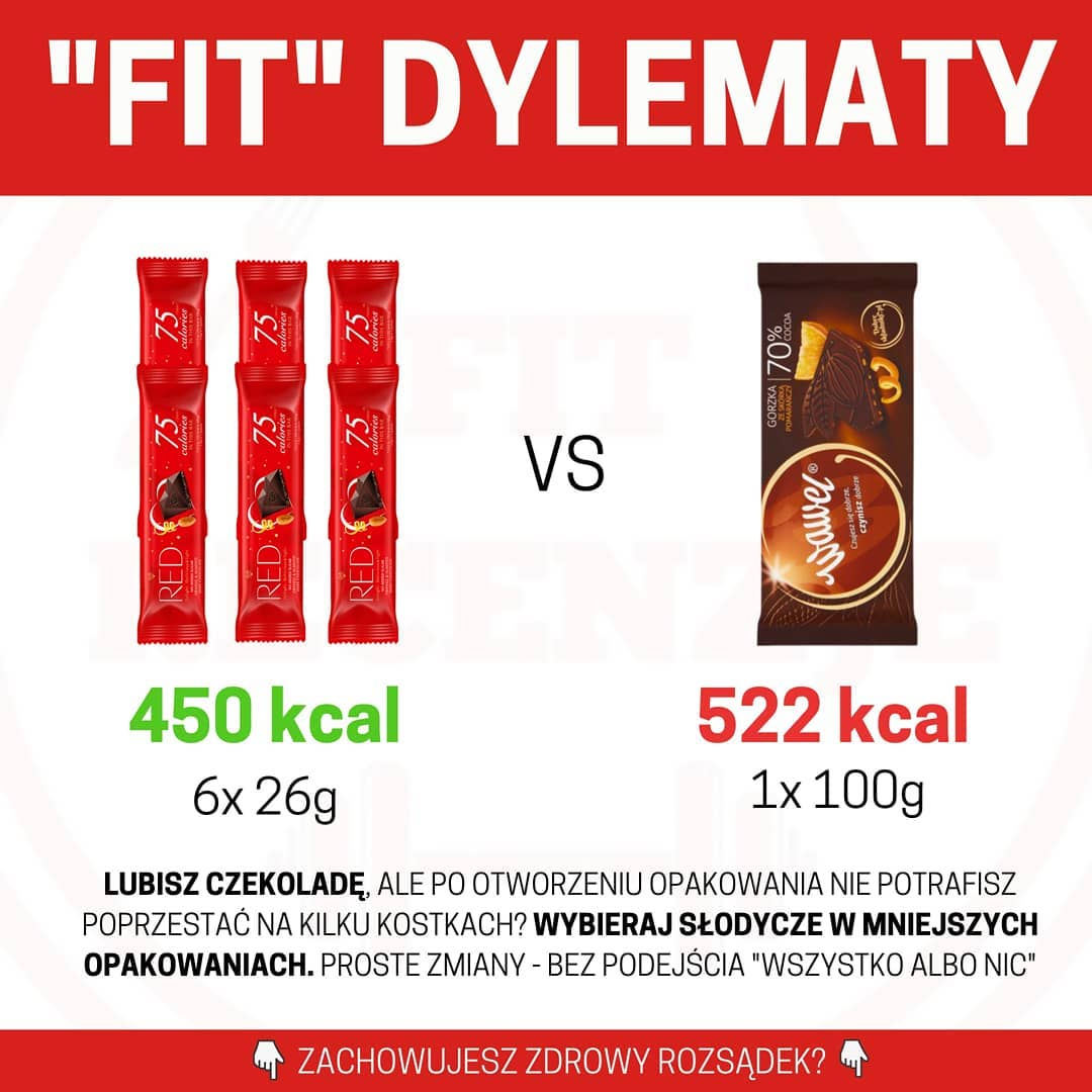 Fit Dylematy – batoniki RED vs czekolada