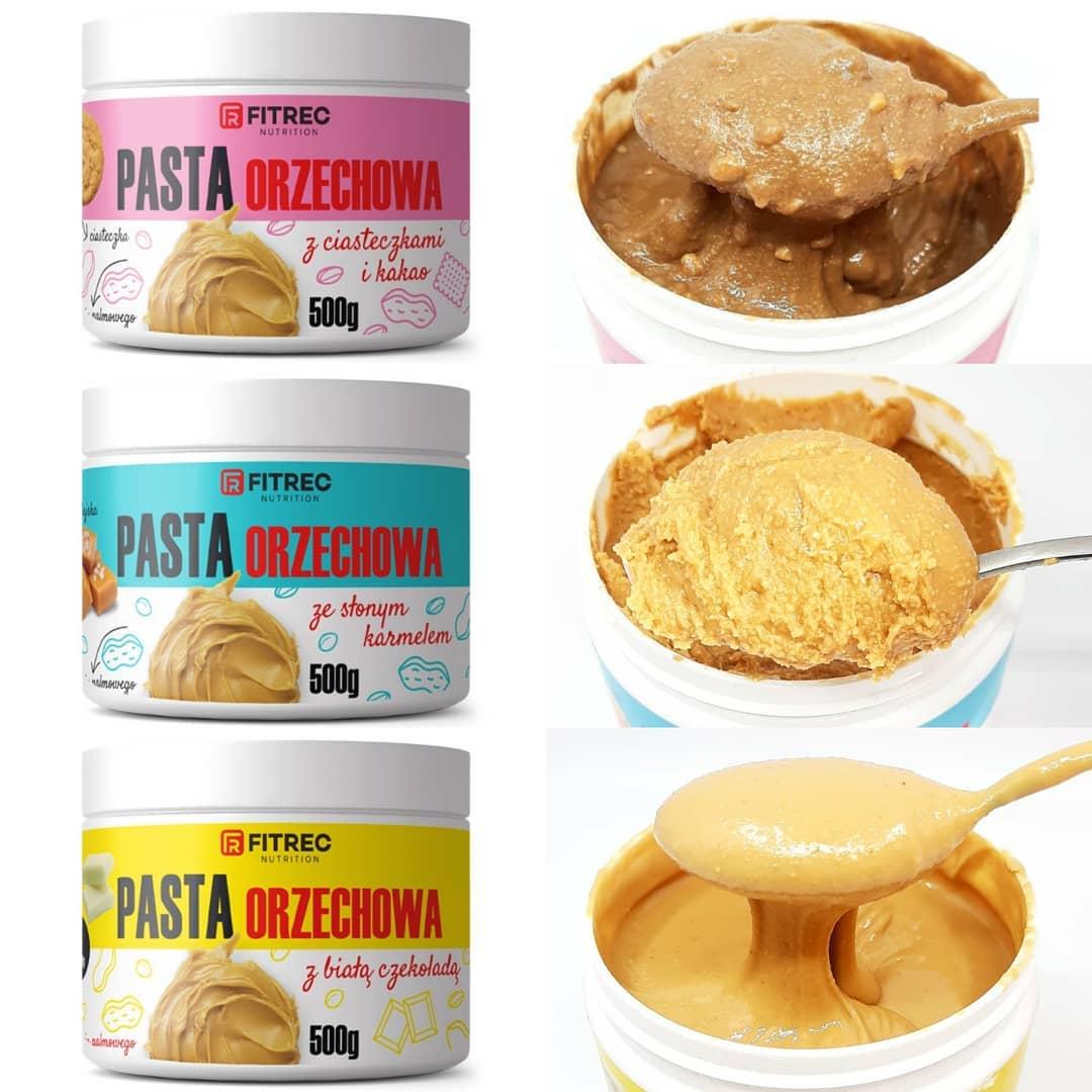 FITREC Pasty Orzechowe – mają aż trzy smaki!